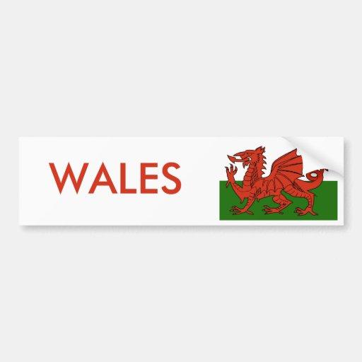 Welsh Flag Bumper Sticker