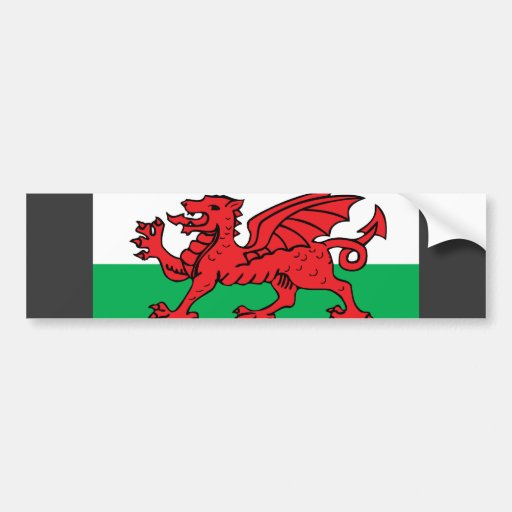 Welsh Flag Bumper Stickers