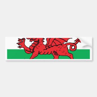 Welsh Flag Car Bumper Sticker