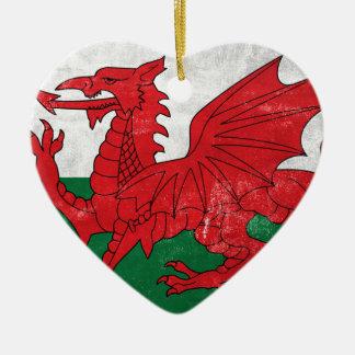 Welsh Flag Ceramic Ornament