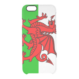 Welsh flag clear iPhone 6/6S case