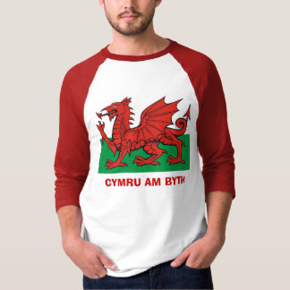 Welsh flag, Cymru am byth T-Shirt