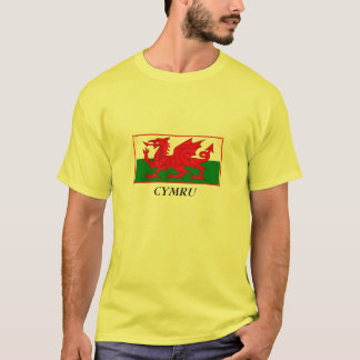 Welsh Flag Dragon design. T-Shirt