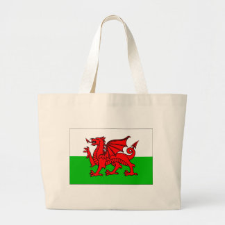 Welsh flag large tote bag