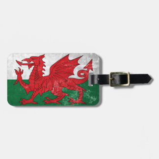 Welsh Flag Luggage Tag