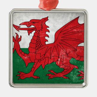 Welsh Flag Metal Ornament