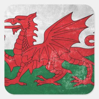 Welsh Flag Square Sticker