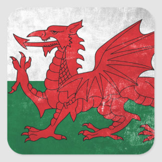 Welsh Flag Square Sticker