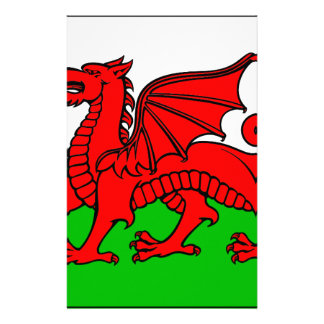 Welsh-Flag Stationery Paper