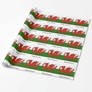 Welsh Flag Wrapping Paper