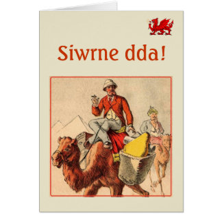 "Welsh ""Good Journey"" greeting. Greeting Card"