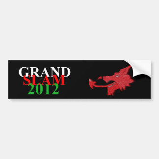 Welsh grand slam 2012 sticker bumper sticker