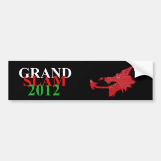 Welsh grand slam 2012 sticker bumper stickers