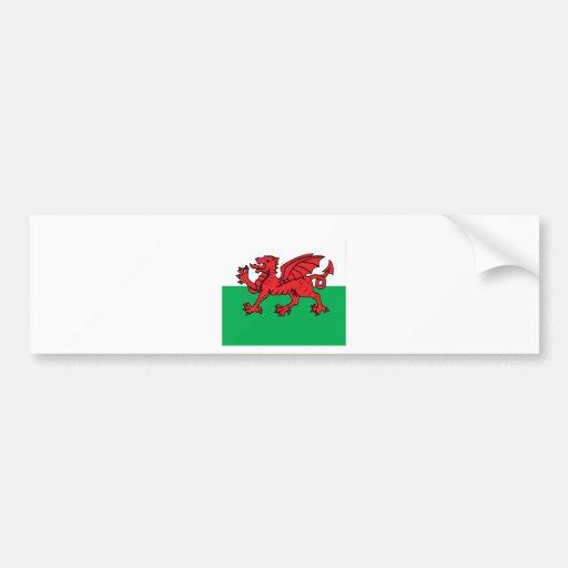 Welsh High quality Flag Bumper Sticker