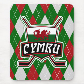 Welsh Ice Hockey Mousemat, Wales Flag Mouse Pad
