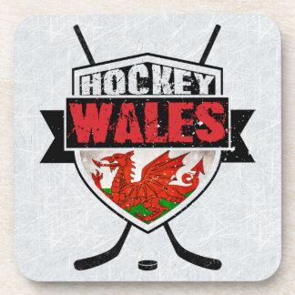 Welsh Ice Hockey Shield Coaster Set