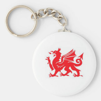 Welsh keyring basic round button key ring