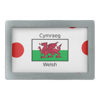 Welsh Language And Wales Flag Design Belt Buckles