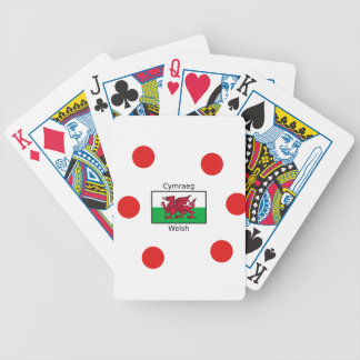 Welsh Language And Wales Flag Design Bicycle Playing Cards