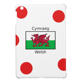 Welsh Language And Wales Flag Design Cover For The iPad Mini