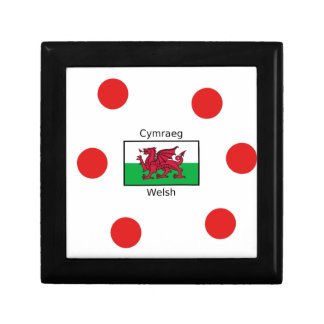 Welsh Language And Wales Flag Design Gift Box
