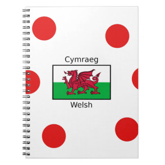 Welsh Language And Wales Flag Design Notebooks