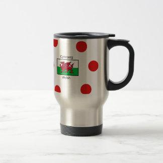 Welsh Language And Wales Flag Design Travel Mug