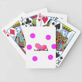 Welsh Language of Love Design Bicycle Playing Cards