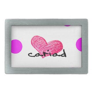 Welsh Language of Love Design Rectangular Belt Buckles