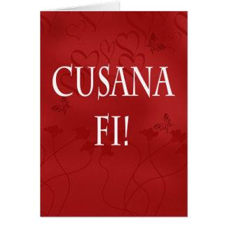 Welsh Language Valentine's Day Card