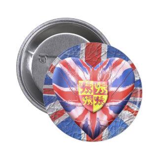 Welsh Lions 6 Cm Round Badge