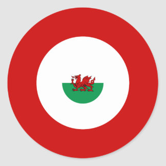 Welsh Mod Bullseye Round Sticker