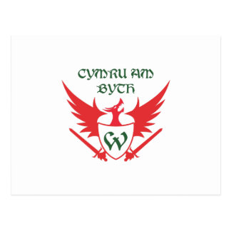 WELSH MOTTO POSTCARD