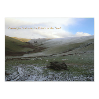 Welsh Mountains Winter Solstice Party Invitation