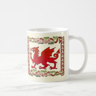 Welsh Mug With Dragon And Celtic Knots