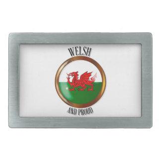 Welsh Proud Flag Button Belt Buckles