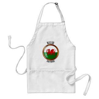 Welsh Proud Flag Button Standard Apron