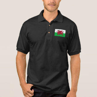 Welsh Red Dragon Flag Men's Jersey Polo Shirt