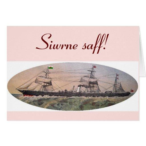 """Welsh """"Safe Journey"""" greeting Cards"""