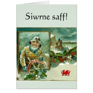 "Welsh ""Safe Journey"" greeting Greeting Card"