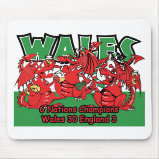 Welsh Six Nation Rugby Champions, W 30-3 E Mouse Pad