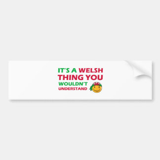 welsh Smiley Designs Bumper Stickers