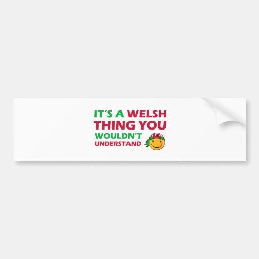 welsh Smiley Designs Bumper Stickers