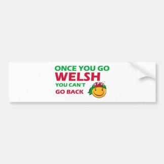 Welsh smiley designs bumper sticker