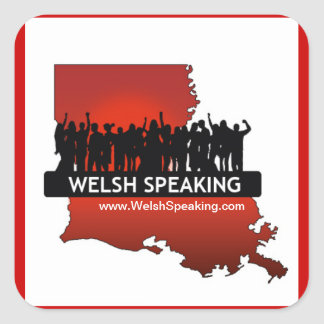 "Welsh Speaking ""Logo Stickers"" Square Sticker"