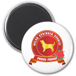 Welsh Springer Spaniel 6 Cm Round Magnet