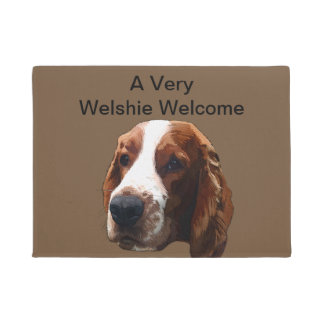 Welsh Springer Spaniel Art Door Mat