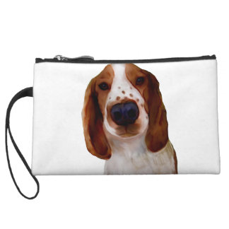 Welsh Springer Spaniel Art Wristlet Clutches