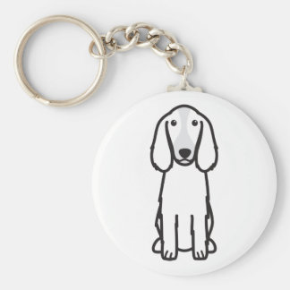 Welsh Springer Spaniel Dog Cartoon Basic Round Button Key Ring