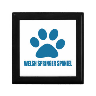 WELSH SPRINGER SPANIEL DOG DESIGNS GIFT BOX